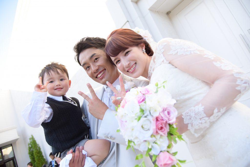 お子様と一緒に家族結婚式