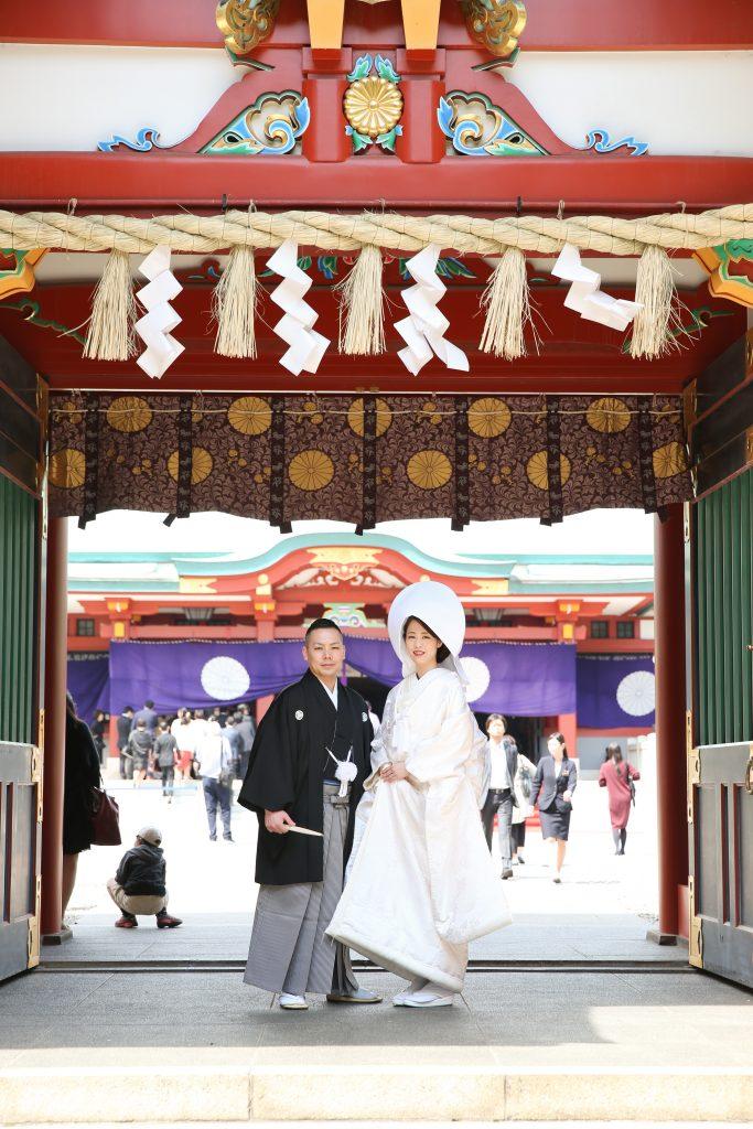 日枝神社で結婚式