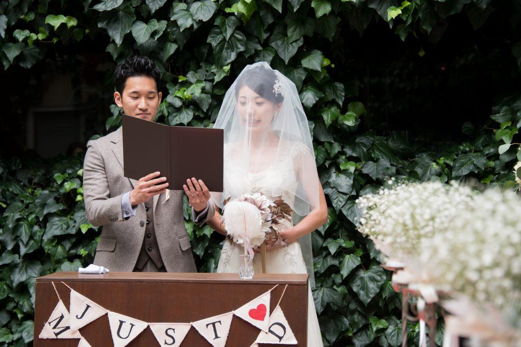 結婚式のシーン