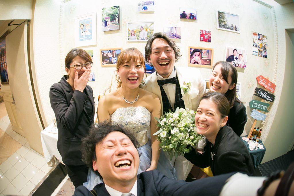 結婚式のオフショット