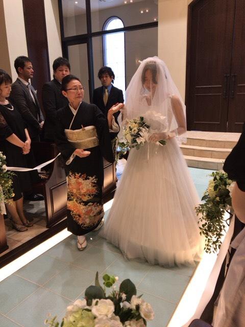 花嫁の入場シーン