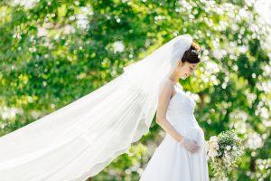マタニティの花嫁