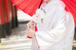 白無垢を着た花嫁