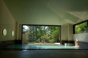 空の庭の大浴場