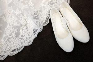 ウェディングドレスの靴