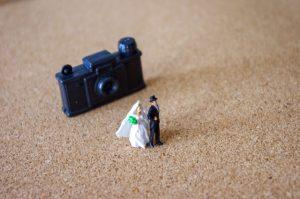 新郎新婦とカメラ