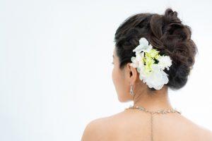 アップヘアの花嫁