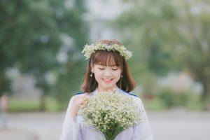 カジュアルな雰囲気の花嫁