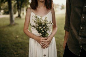 ダウンスタイルの花嫁