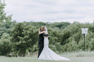 マーメイドドレスを着た花嫁