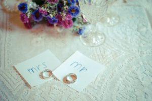 男女の指輪